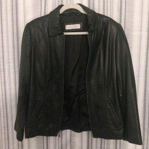 Valerie Stevens Lambskin Leather Jacket Size 8